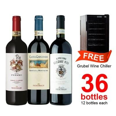 (Free Wine Chiller) Frescobaldi + Grubel Pack