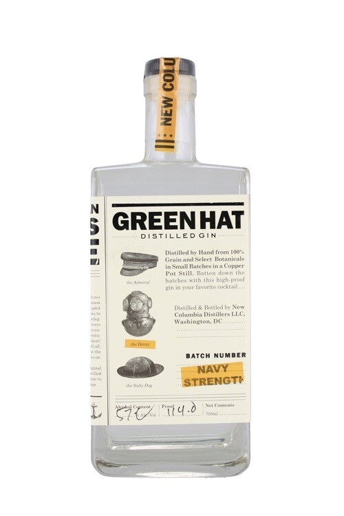 New Columbia Distillers Green Hat Navy Strength Gin - 750ml