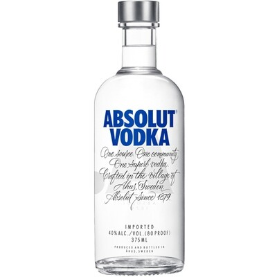 Absolut Vodka 375 mL
