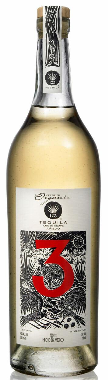 "123 ""3"" Anejo Tequila - 750ml"