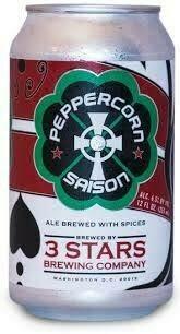 3 Stars Peppercorn Saison 6pack