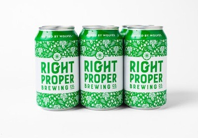 """Right Proper Brewing """"Raised By Wolves"""" Pale Ale 6-pack"""