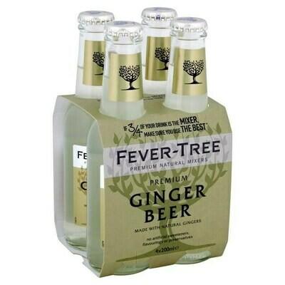 Fever Tree Ginger Beer 200ml 4-pack