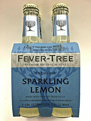 Fever Tree Sparkling Lemon Tonic Water - 200ml 4-pk