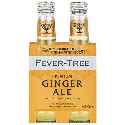 Fever Tree Ginger Ale 200ml 4-pk