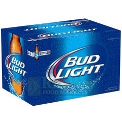 Bud Light bottles CASE/24