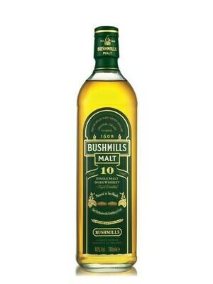 Bushmills 10-yr Single Malt Irish Whiskey - 750ml