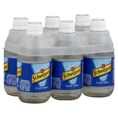 Schweppes Club Soda 10oz 6-pack