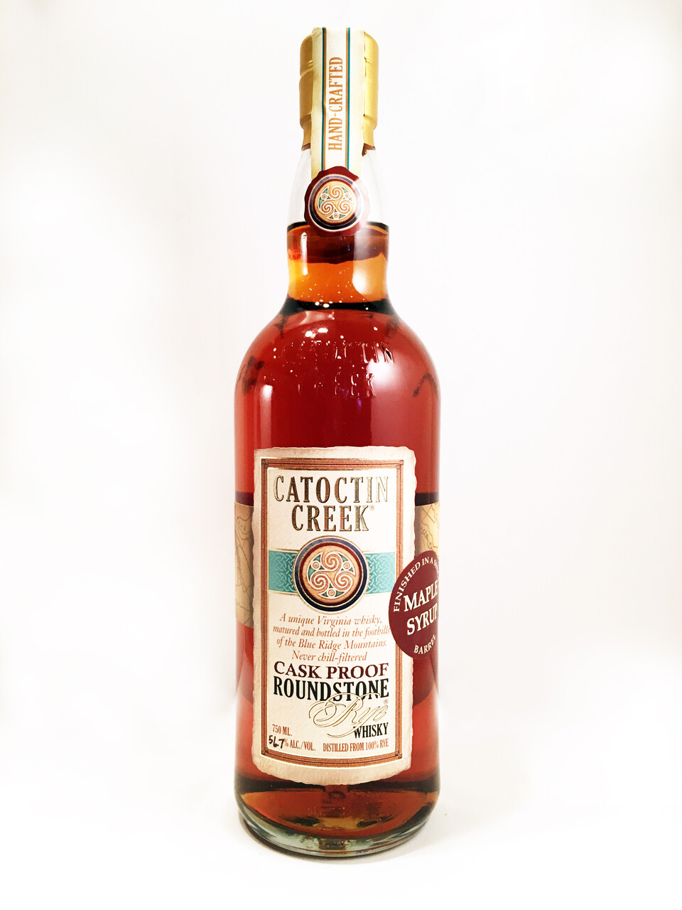 Catoctin Creek Roundstone Rye, Maple Syrup Finish (114.6 proof)