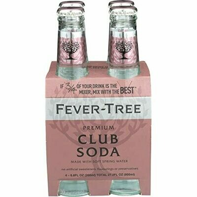 Fever Tree Club Soda - 200ml 4-pk
