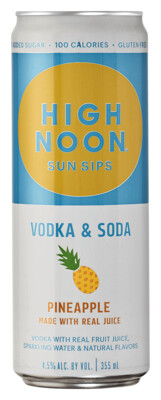 High Noon Pineapple 4-pack cans