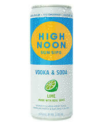 High Noon Lime 4-pack cans
