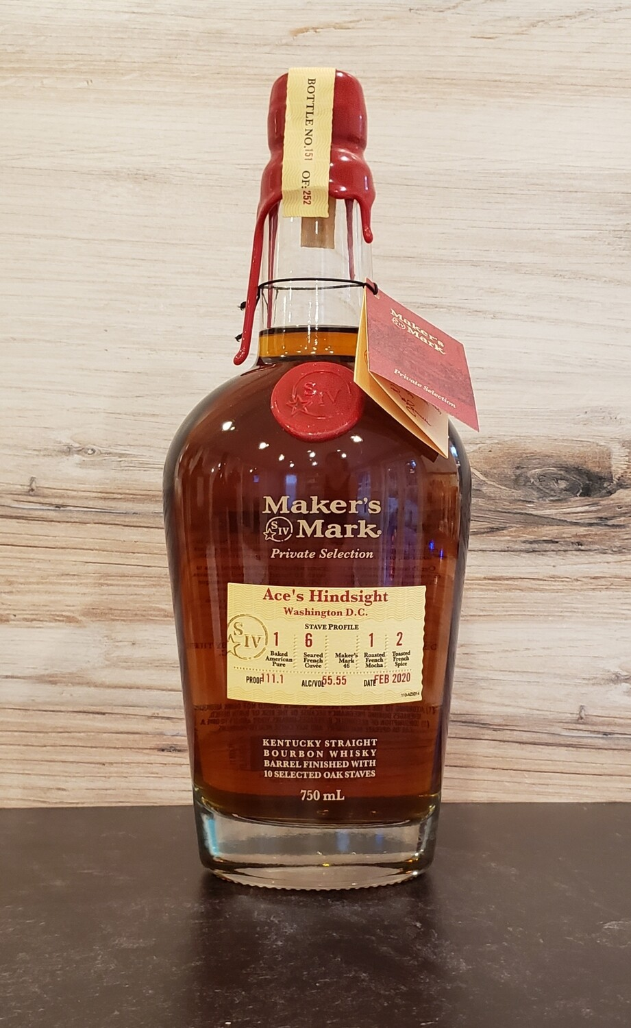 "Maker's Mark Private Select ""Ace's Hindsight"" Single Barrel Bourbon (111.1-proof)"