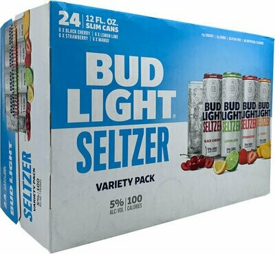 Bud Light Seltzer Variety Pack 24/12oz cans