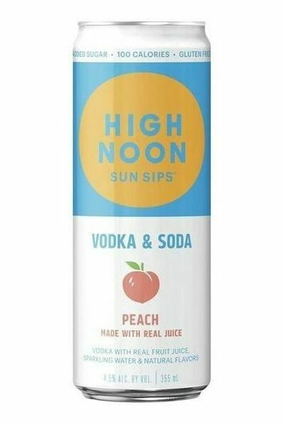 High Noon Peach  4-pack cans