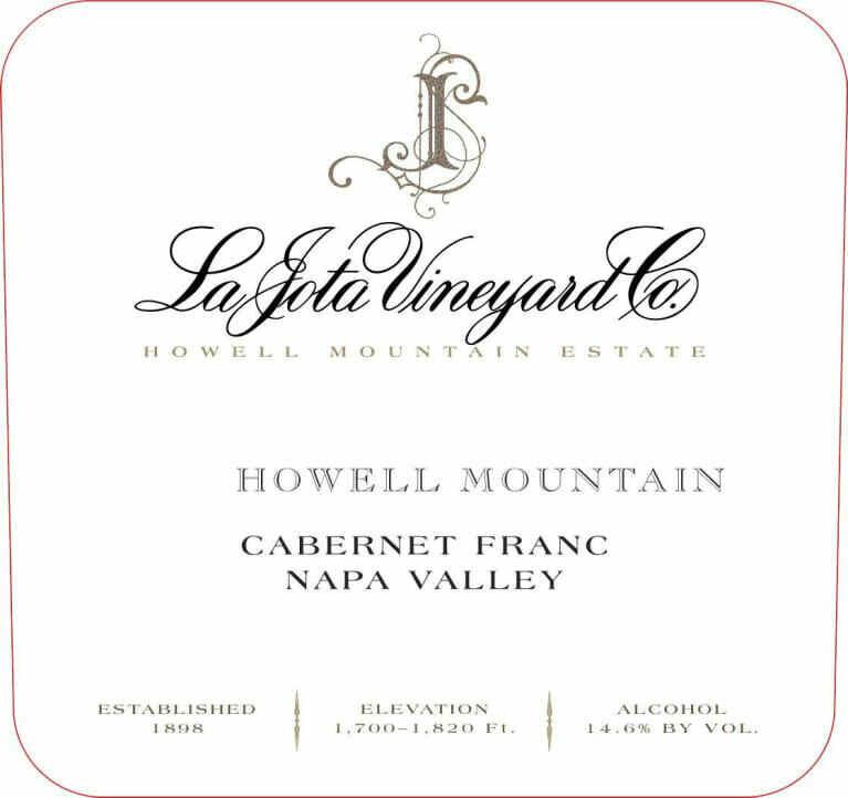 La Jota Howell Mountain Cabernet Franc 2011 *SALE*