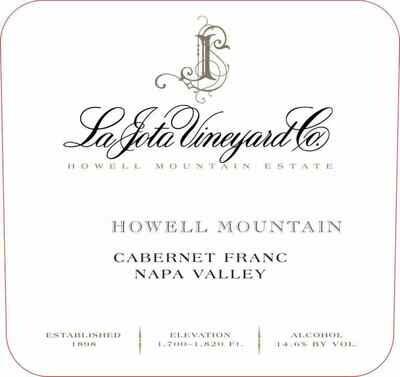 La Jota Howel Mountain Cabernet Franc 2011