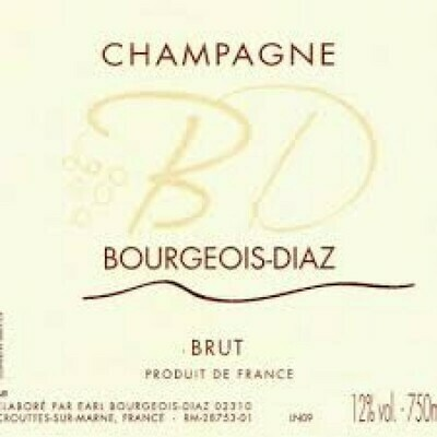 Champagne Bourgeois-Diaz Brut NV *CLOSEOUT*