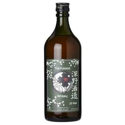 Fukano 10 Year Japanese Whisky 750ml