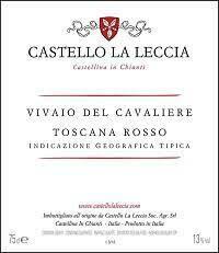 Castello La Leccia Vivaio del Cavaliere Toscana Rosso 2018