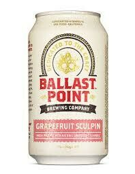 Ballast Point Grapefruit Sculpin IPA 6-pack cans