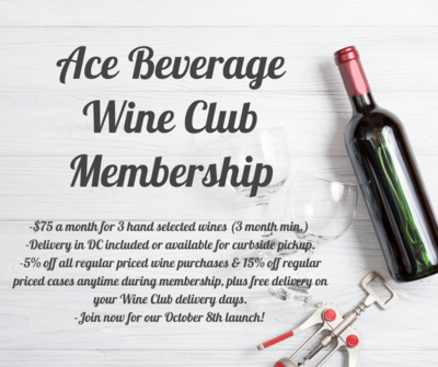Wine Subscription ($75/month; 3 month increment)