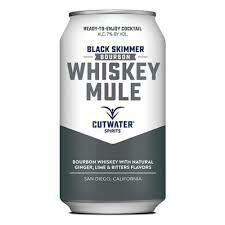 Cutwater Black Skimmer Bourbon Whiskey Mule 4-pack cans