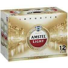 Amstel Light case of 24 x 12 oz bottles