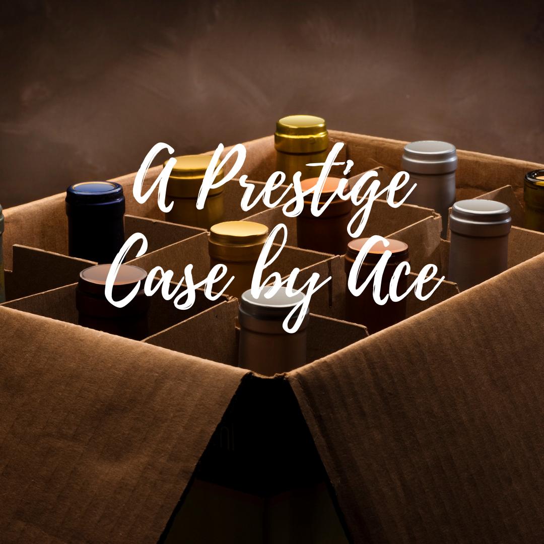 """A Prestige Case by Ace"" selected by our wine buyers. Wines ranging from $55-$65 per bottle. Red/White/Rosé/Sparkling options available. *Curbside Pickup and DC Delivery Only*"