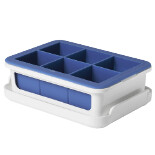 Silicone Large Ice Cube Tray with Lid