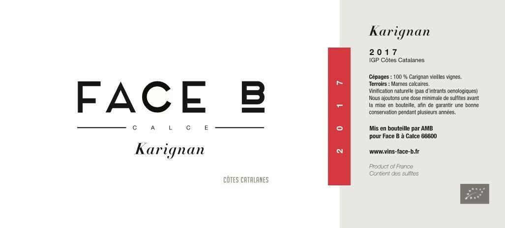 Face B Karignan Rouge 2017