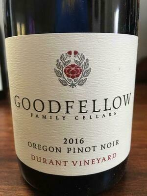 Goodfellow Pinot Noir Durant Vineyard Dundee Hills 2016