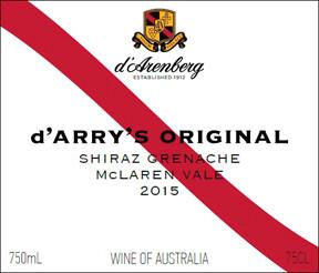 d'Arenberg d'Arry's Original Shiraz Grenache McLaren Vale 2015