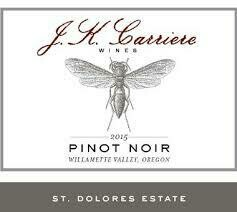 JK Carriere Pinot Noir St Dolores Estate Chehalem Mountain 2015