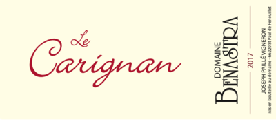 Benastra Le Carignan Rouge 2017