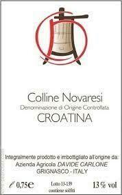 Davide Carlone Croatina Colline Novaresi DOC 2017