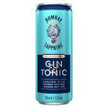 Bombay Sapphire Gin & Tonic Cocktail 4-pack 250ml cans