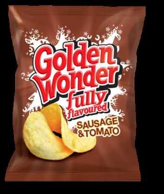 Golden Wonder Crisps Sausage & Tomato 32 x 32.5g
