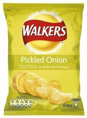 Walkers Crisp Pickled Onion 32.5g Bags (Box of 32)