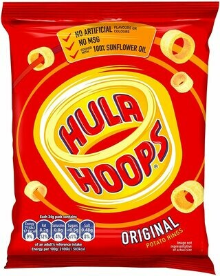 KP Hula Hoops Ready Salted - 32x34g