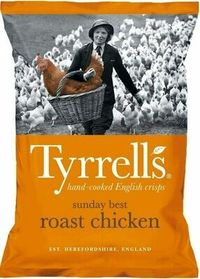 Tyrrells Sunday Best Roast Chicken Crisps 40 g (Pack of 24)