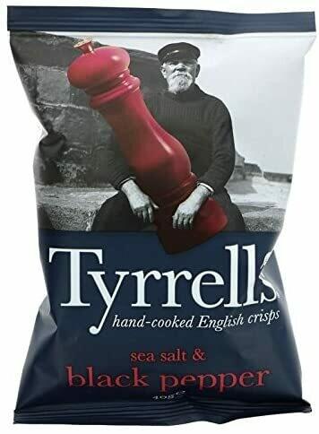 Tyrrells Sea Salt and Black Pepper Crisps 40 g (Pack of 24)