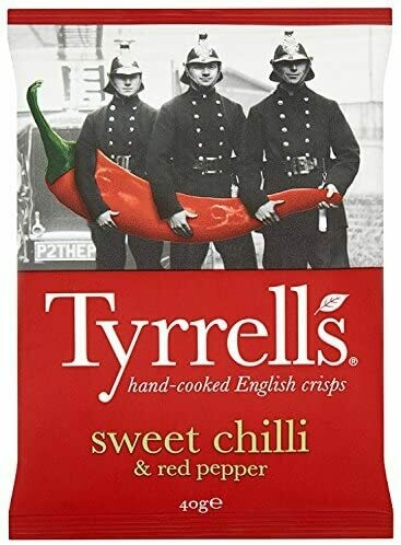 Tyrrells Sweet Chilli and Red Pepper Crisps 40 g (Pack of 24)