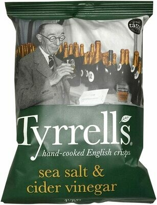 Tyrells Cider Vinegar Chips 40 g (Pack of 24)
