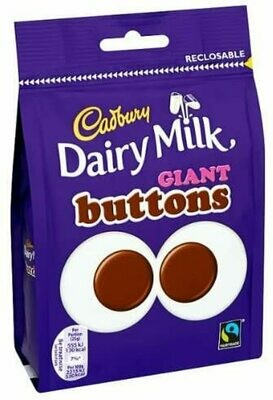 Cadbury Dairy Milk Giant Buttons Chocolate Bag 119g Case of 10