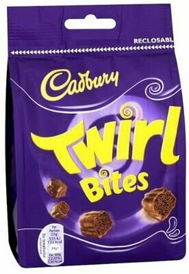 Cadbury Twirl Bites Chocolate Bag 109g Case of 10