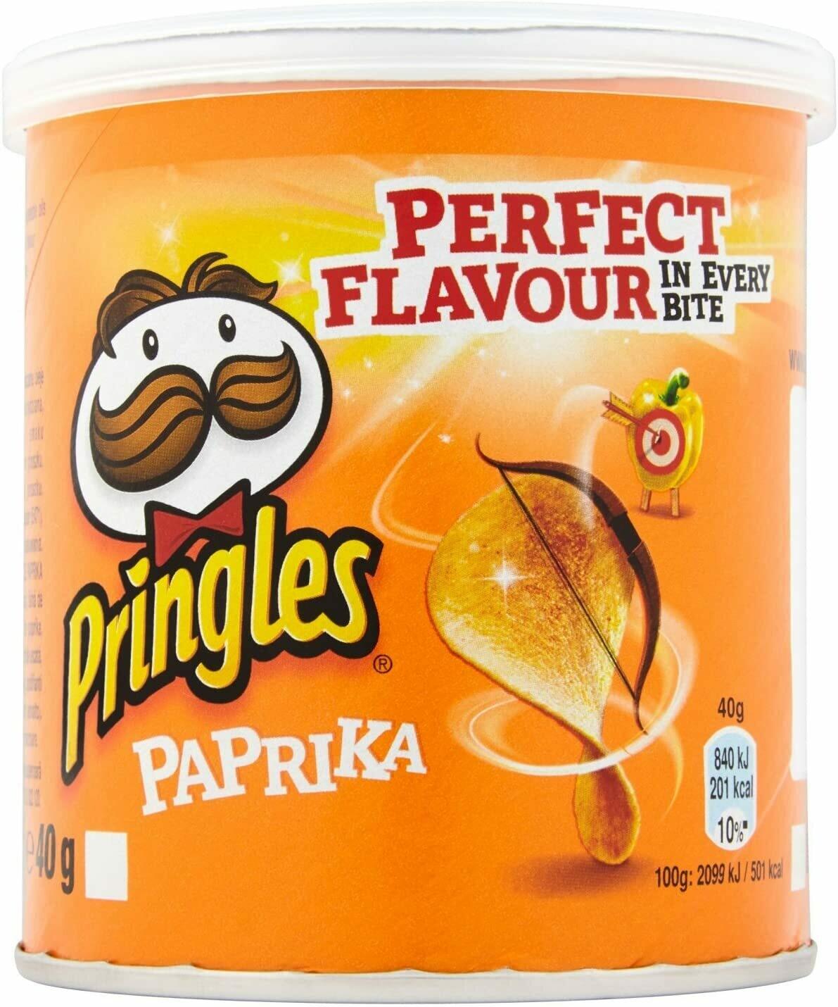 Pringles Paprika Potato Chips 40 g (Pack of 12)