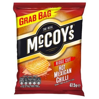 McCoys Ridged Crisps Mexican Chilli 47.5G x 30 Bags
