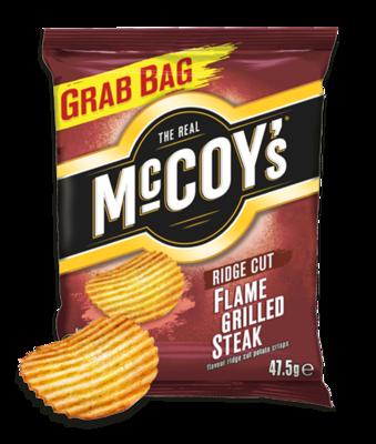 McCoys Crisps FLAME GRILLED STEAK 47.5g x 30 Bags