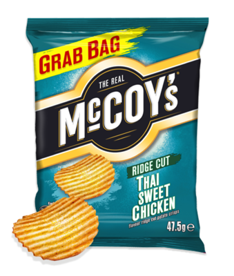 McCoys Ridged Crisps THAI SWEET CHICKEN 47.5g x 30 Bags